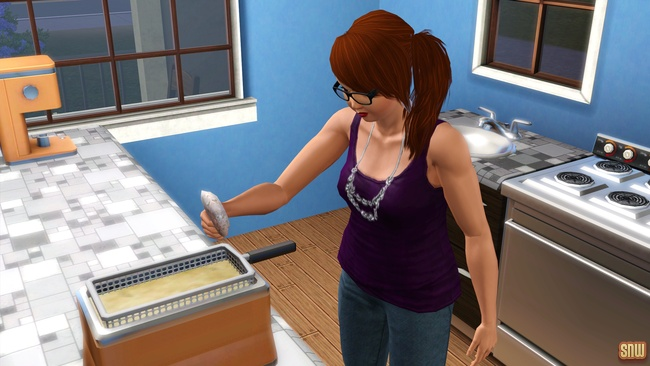Sizzle Baby Pro Deep Fryer and Frost-Bite Pro Ice Cream Machine (premium content for The Sims 3)