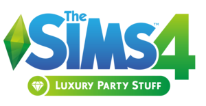 The Sims 4: Luxury Party Stuff logo