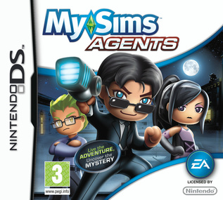 MySims Agents DS box art packshot