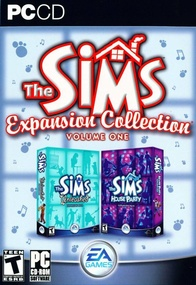 The Sims: Expansion Collection, volume one box art packshot