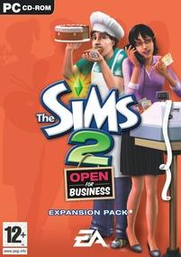 The Sims 2: Open for Business box art packshot