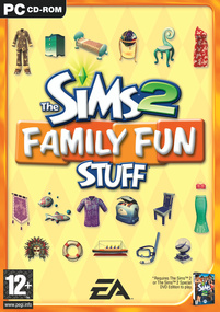 The Sims 2: Family Fun Stuff box art packshot