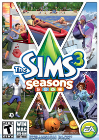 The Sims 3: Seasons box art packshot