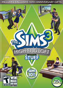 The Sims 3: High-End Loft Stuff box art packshot US