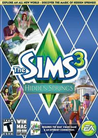 The Sims 3: Hidden Springs box art packshot