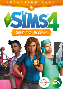 The Sims 4: Get to Work box art packshot