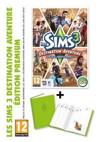 Les Sims 3: Destination Aventure + Agenda Deluxe (Edition Premium) packshot box art