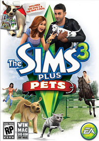 The Sims 3 Plus Pets packshot box art