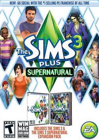 The Sims 3 Plus Supernatural packshot box art