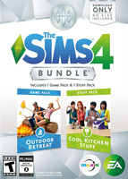 The Sims 4: Bundle Pack (Outdoor Retreat and Cool Kitchen Stuff) Packshot Box Art