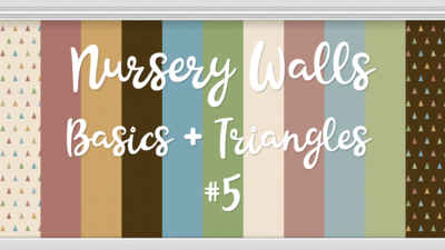 Nursery Walls Set #5 - Basics + Triangles