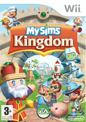 MySims Kingdom Wii box art packshot