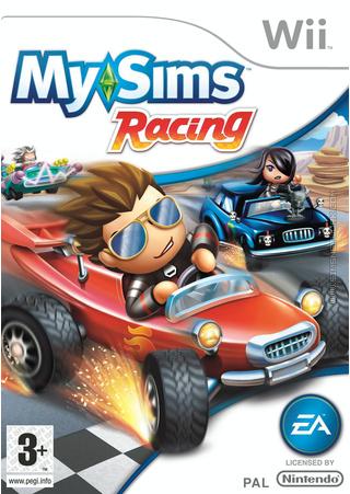 MySims Racing Wii box art packshot