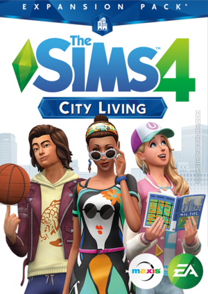 The Sims 4: City Living box art packshot