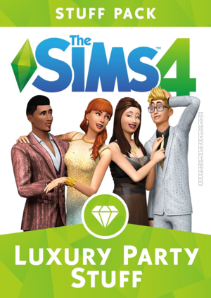 The Sims 4: Luxury Party Stuff box art packshot