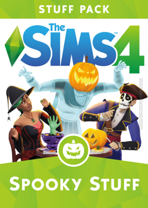 The Sims 4: Spooky Stuff box art packshot