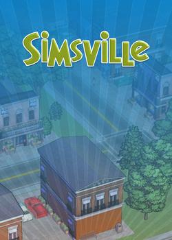 SimsVille custom box art packshot made by Rosana