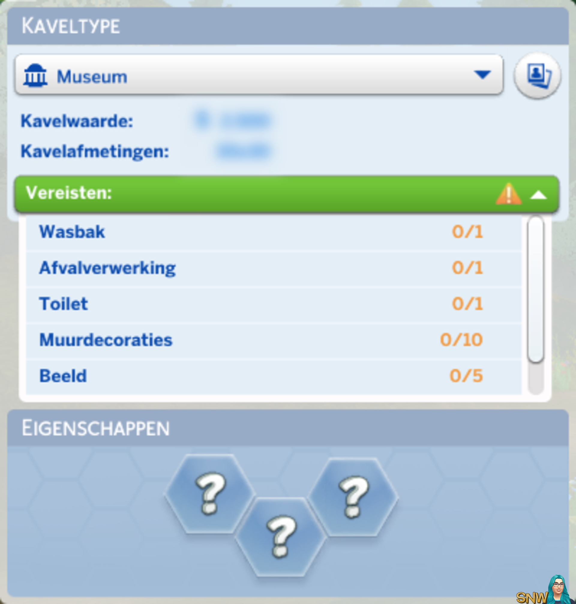 De Sims 4 kaveltype Museum
