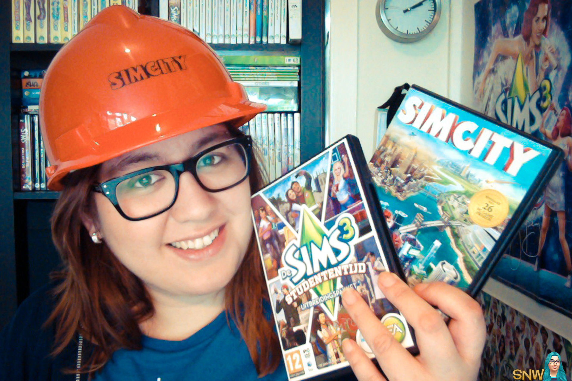 Rosie has SimCity and The Sims 3 University Life!