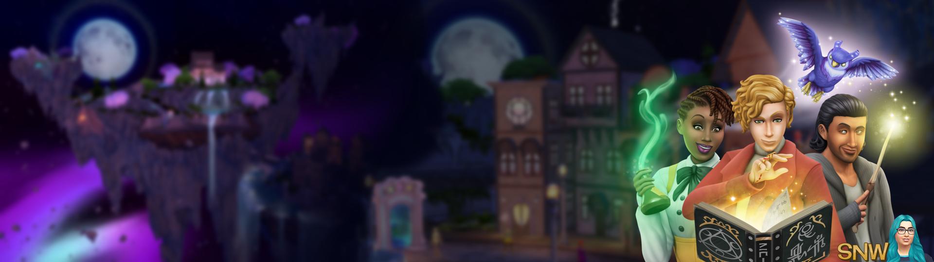 The Sims 4: Realm of Magic 5120x1440 dual screen wallpaper
