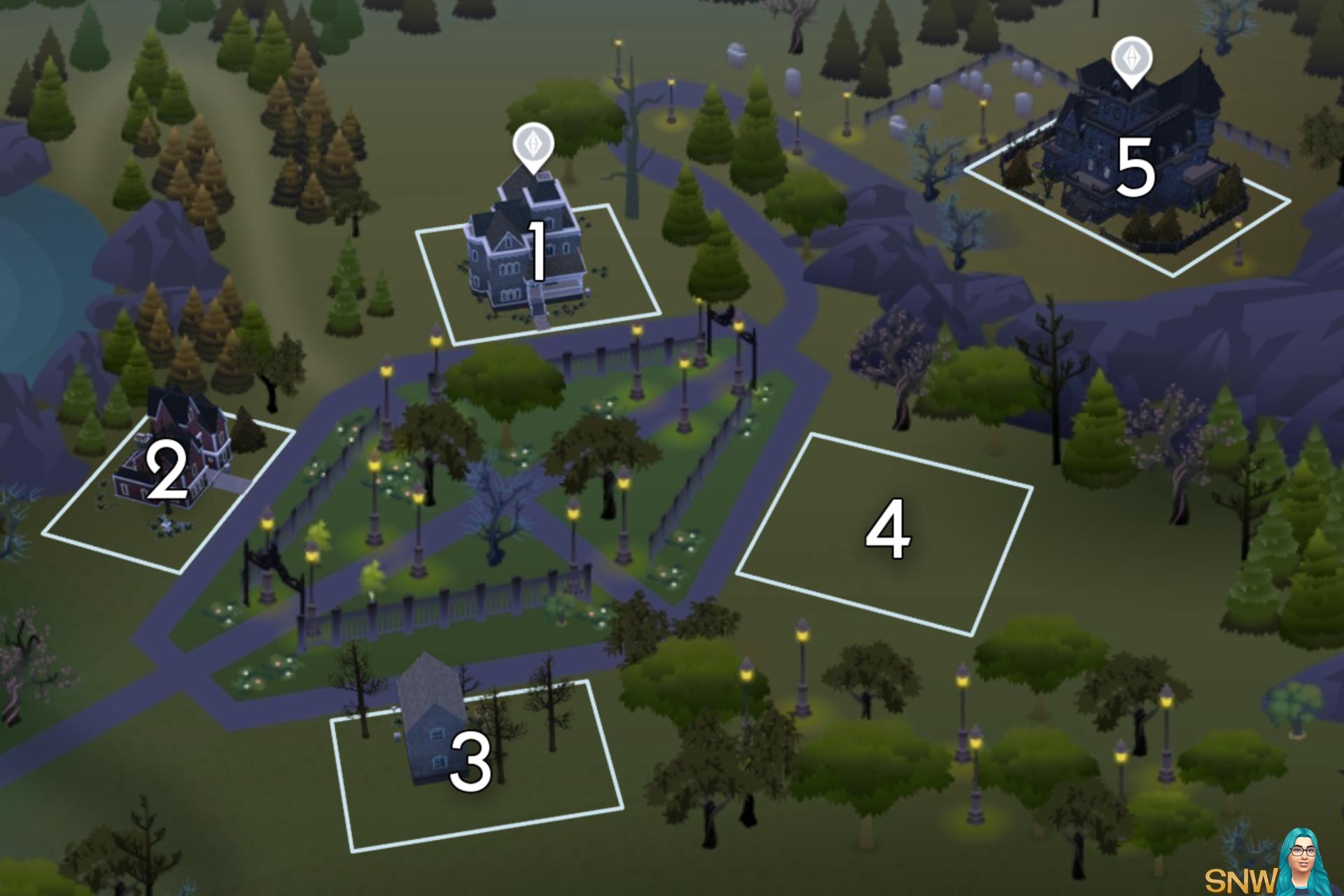The Sims 4: Forgotten Hollow world neighbourhood #1